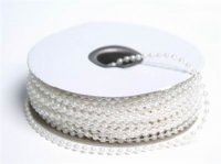 String Beads-3mm-White-24yds