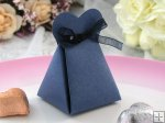 Love Heart Favor Box with ribbon - Royal Blue