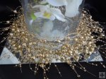 Gold Acrylic HEART Beaded Garland 2.1m