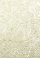 A4 Embossed Bloom- Ivory Pearl (double-sided)