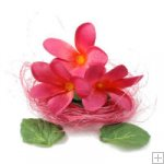 Frangipani Heads Silk - Floating - Hot Pink - Box of 12