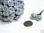 Ribbon Rose Silver - 144pk